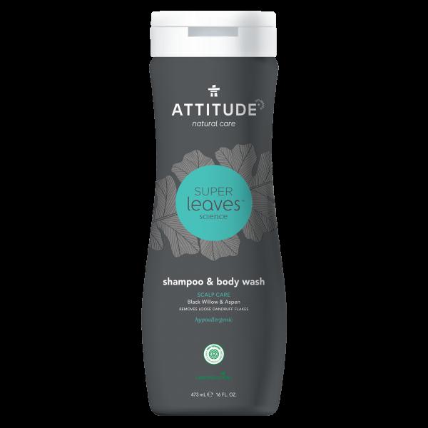 ATTITUDE Shampoo & Body Wash 2-in-1 - Scalp Care MEN 473ml