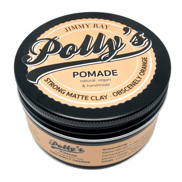 Polly's Pomade Strong Matte Clay Obscenely Orange 125g