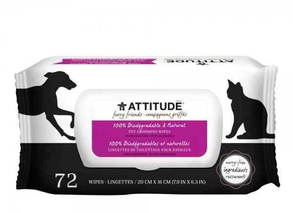 ATTITUDE Pet Grooming Wipes 72 Stück