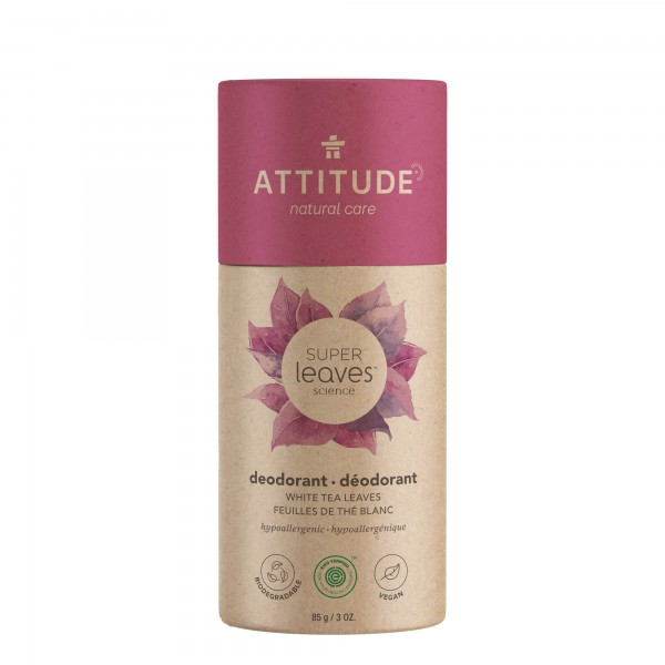 ATTITUDE Super Leaves Deodorant - white tea leaves 85g