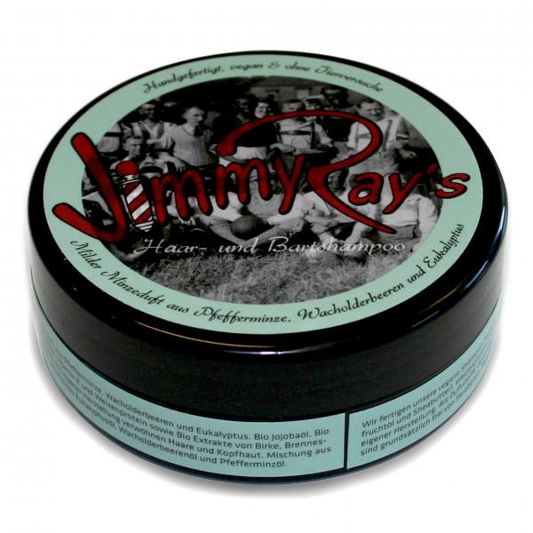 Jimmy Ray's Haar- und Bartshampoo – Pfefferminze, Wacholderbeeren und Eukalyptus 165 ml