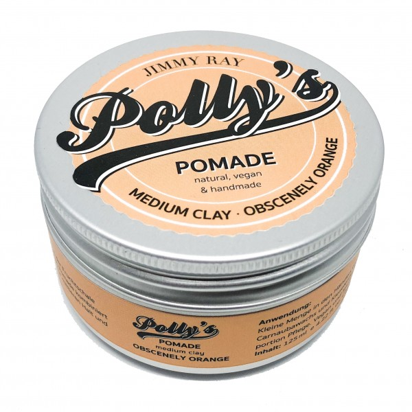 Jimmy Ray Polly's Pomade Medium Clay Obscenely Orange 125g