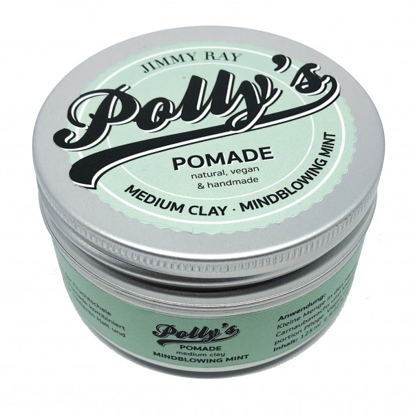 Jimmy Ray Polly's Pomade Medium Clay Mintblowing Mint 125g