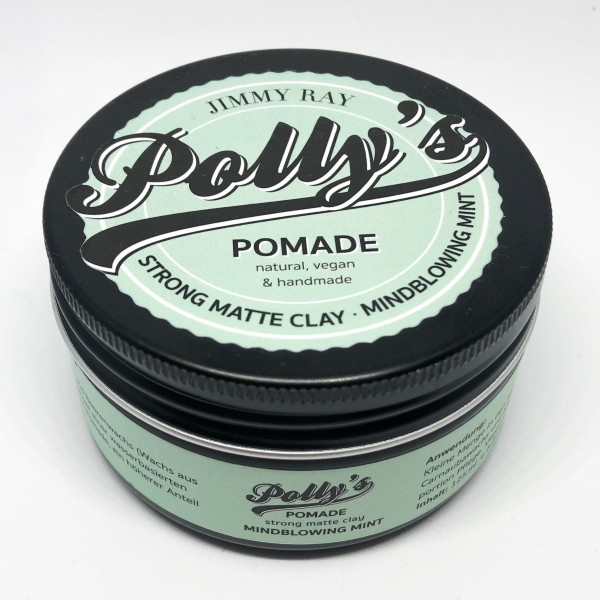 Jimmy Ray Polly's Pomade Strong Matte Clay-Mindblowing Mint 125g