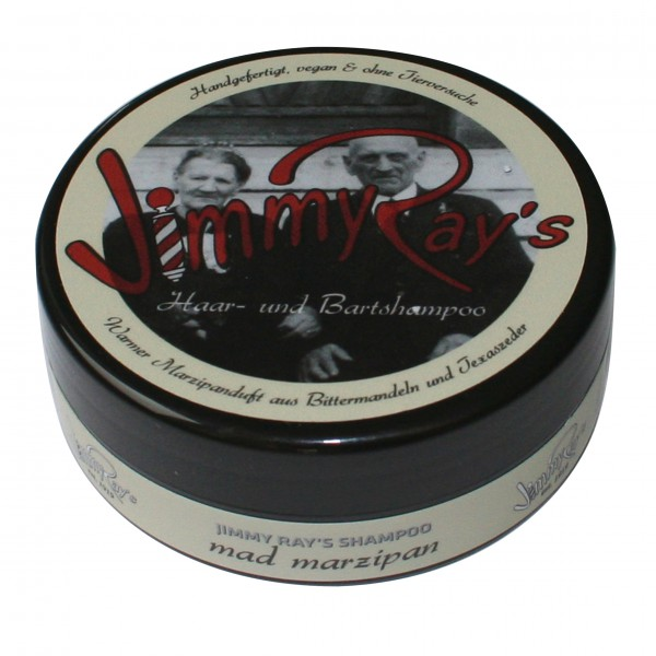Jimmy Ray's Haar- und Bartshampoo – warmer Marzipanduft aus Bittermandeln und Texaszeder 165 ml