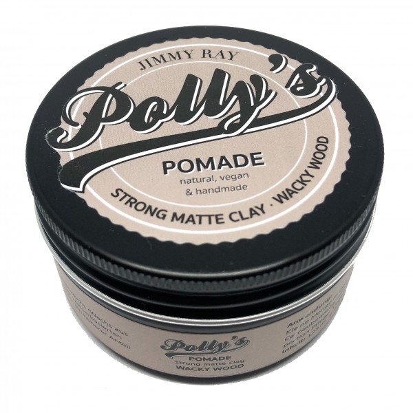 Jimmy Ray Polly's Pomade Strong Matte Clay Wacky Wood 125g