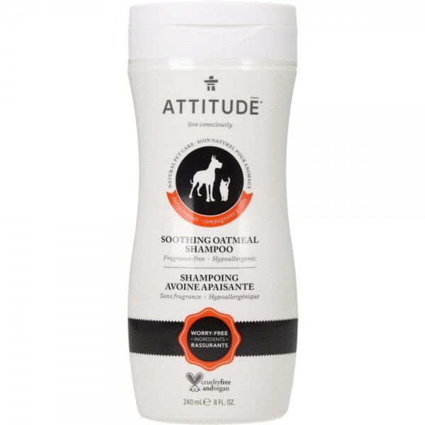 ATTITUDE Natural Pet Shampoo Soothing Oatmeal 240ml