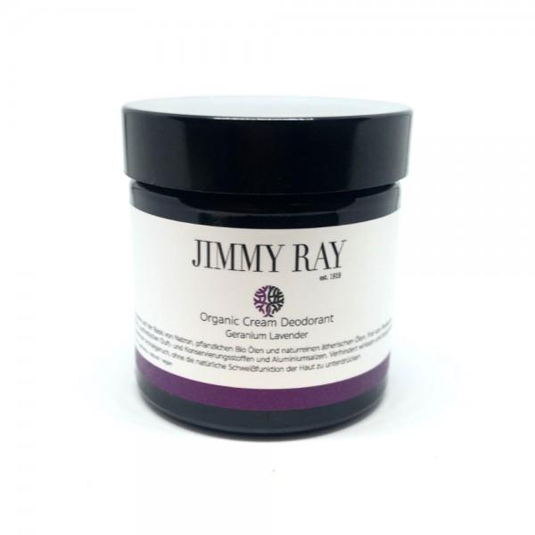 JIMMY RAY Organic Cream Deodorant Geranium Lavender 75g