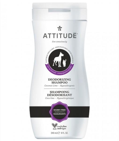 ATTITUDE Natural Pet Shampoo Deodorizing Coconut & Lime 240ml
