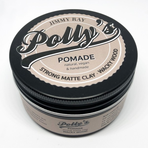 Jimmy Ray Polly's Pomade Strong Matte Clay-Wacky Wood 125g