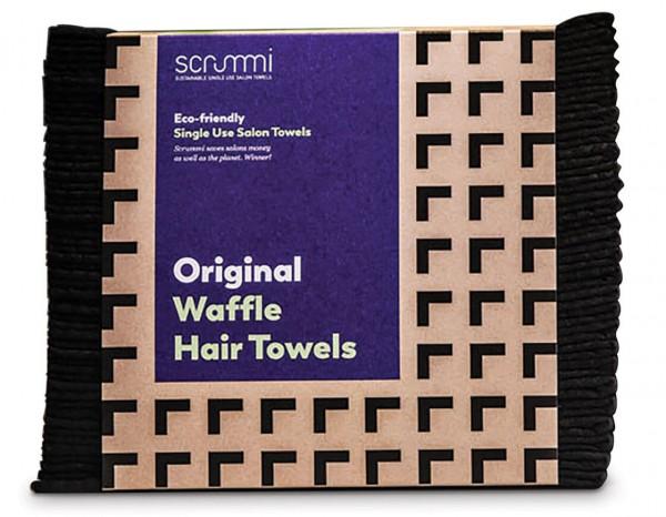 Srummi Einweghandtücher mit Wabenstruktur 40x20cm schwarz 50 Stk.