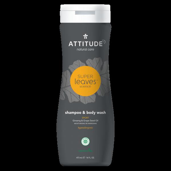 ATTITUDE Shampoo & Body Wash 2-in-1 - Sports MEN 473ml