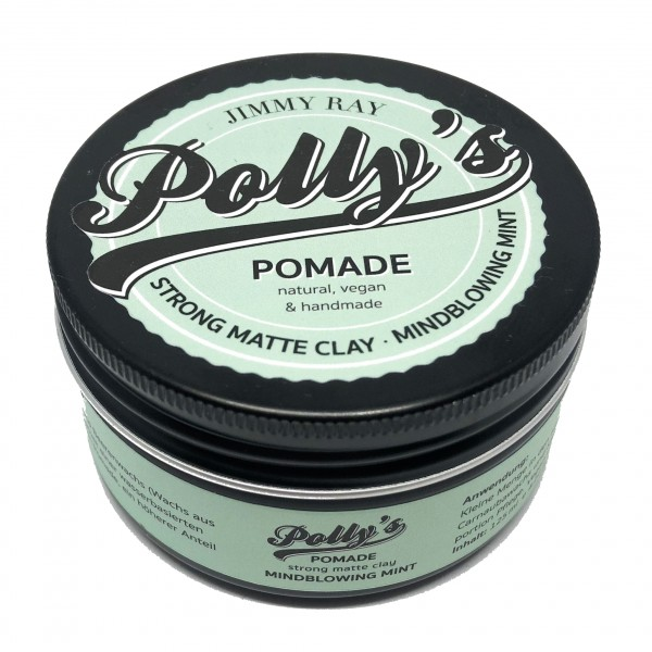 Polly's Pomade Strong Matte Clay Mindblowing Mint 125g